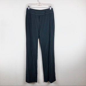 Lillie Rubin | Black and White Pin Striped Pants